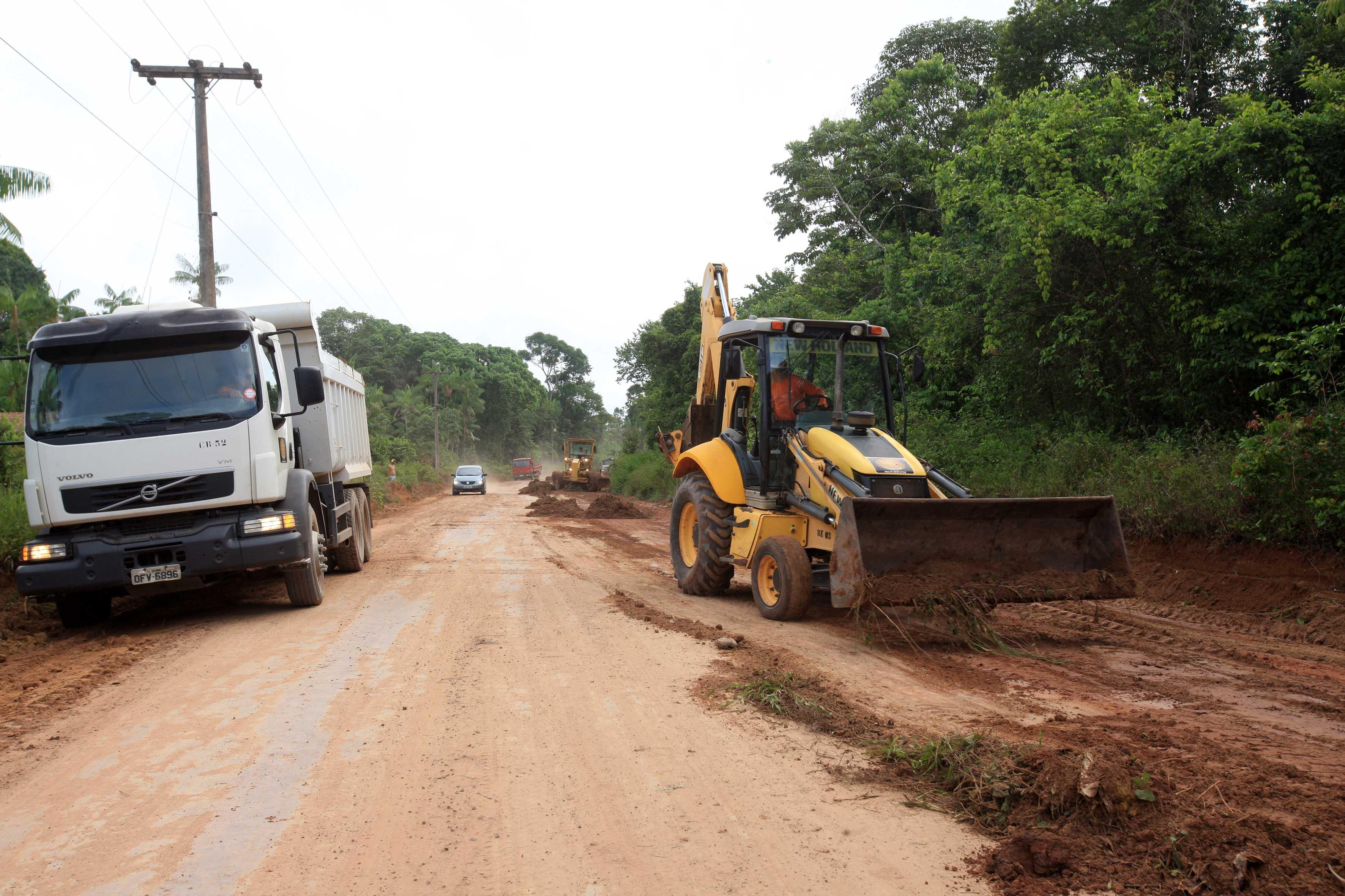 Trecho da Rodovia PA-252 que será pavimentada pelo governo do Estado