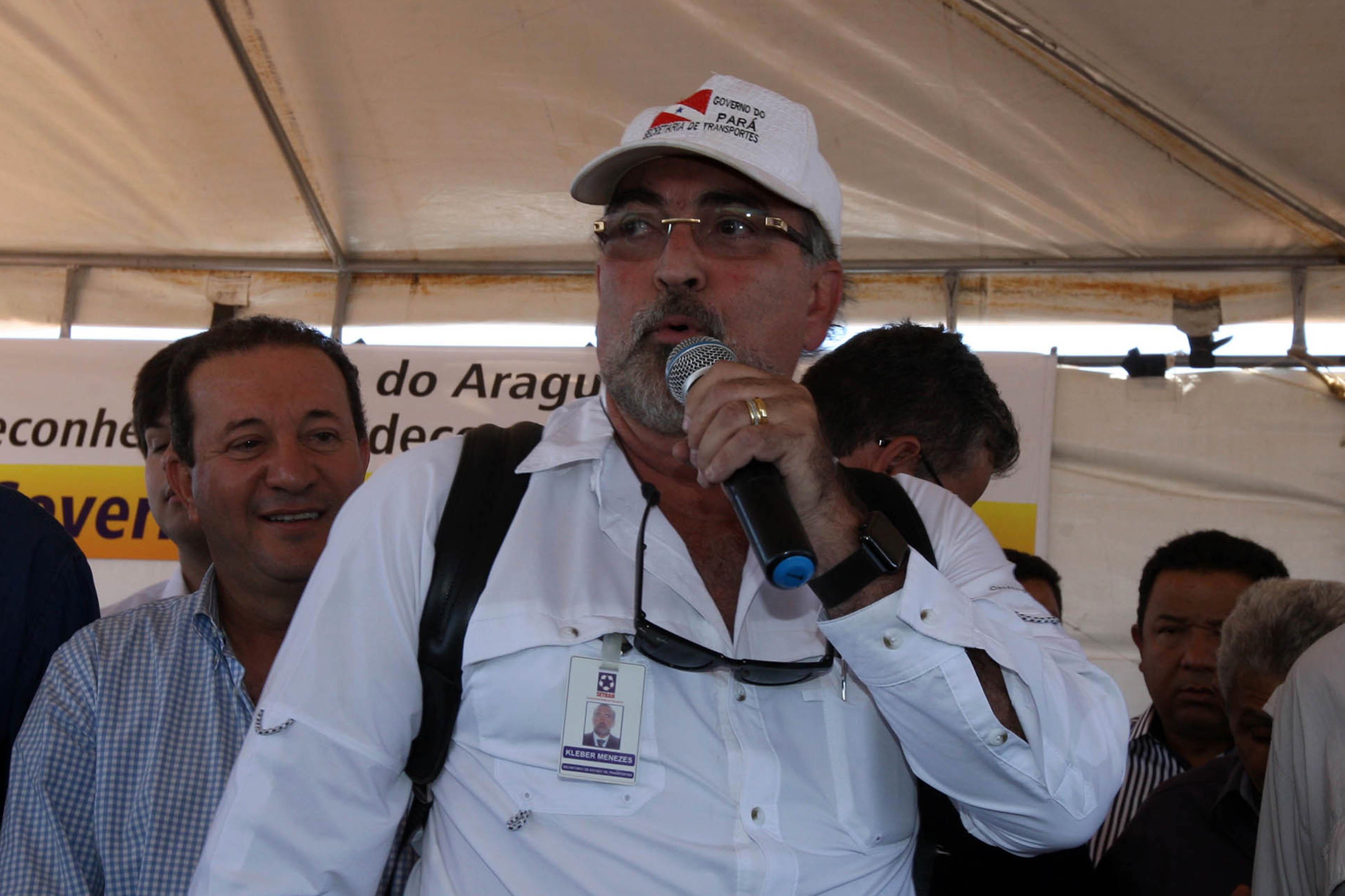 Kleber Menezes, secretário de Estado de Transportes, informa que no Pará 61% das estradas são pavimentadas